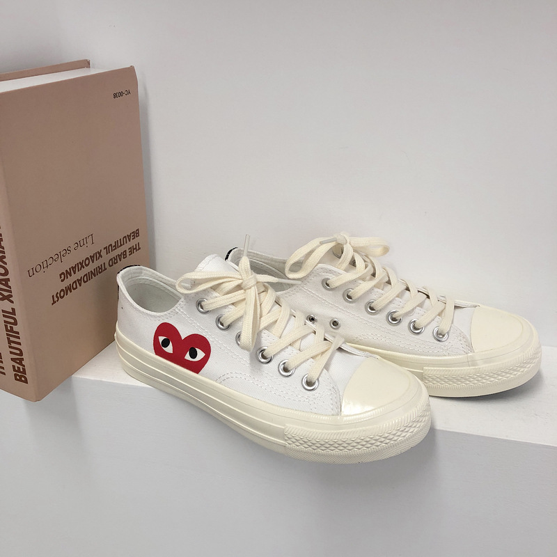 DIWEINI  Male PLAY Black CDG 1970s All Cool Star High/Low Top Unisex Skateboarding Shoes Sapato Feminino Zapatos De Mujer