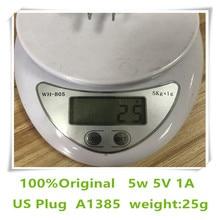 10ピース/ロットaaaaa品質25グラムA1385米国euプラグ5ワットusb高速壁の充電器電源アダプタ電話ボックス