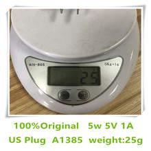 10pcs/lot AAAAA Quality 25gram A1385 US EU Plug 5W USB Fast Wall Charger Power Adapter for mobile phone with box