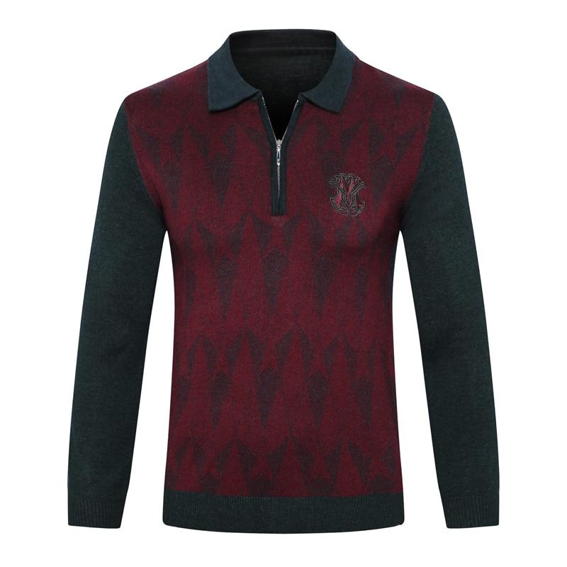 มหาเศรษฐีเสื้อกันหนาวผู้ชาย 2019 ใหม่แฟชั่นซิป comfort geometry ออกแบบคุณภาพสูงสุภาพบุรุษใหญ่ M 5XL จัดส่งฟรี-ใน เสื้อคลุมสวมศีรษะ จาก เสื้อผ้าผู้ชาย บน   1