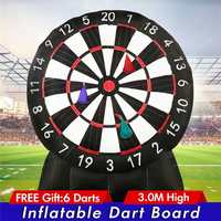 3m/9.85ft Durable Game Huge High Inflatable Dart Board Inflatable Game with 110V Air Blower Outdoor Sports Inflatables Toys