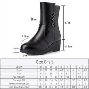 Image 2 - AIYUQI  Female Mother Boots Non slip Wedge 2020 New Genuine Leather Female Snow Boots Thick Wool Warm Female Winter Boots Shoes