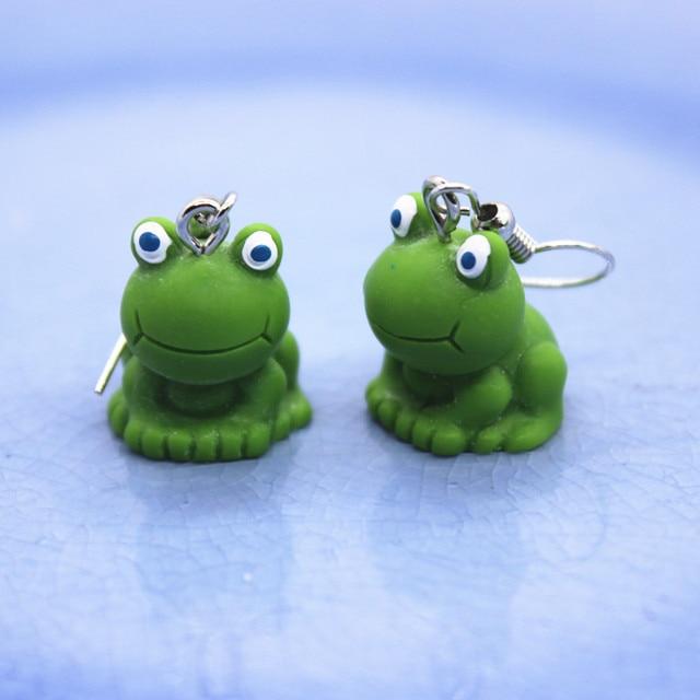 Fancy Frog Earrings  Royal Earrings   Regal Frog  Anthropomorphic Frog  Hypoallergenic  Frog Jewelry  Weird Jewelry  Dapper Frog