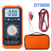 DT9808 Lcr meter digital multimeter temperature esr capacitor tester inductance meter electrical measuring instruments ammeter