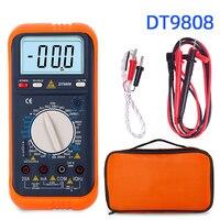 Dt9808 lcr 미터 디지털 멀티 미터 온도 esr 커패시터 테스터 인덕턴스 미터 전기 측정기 전류계