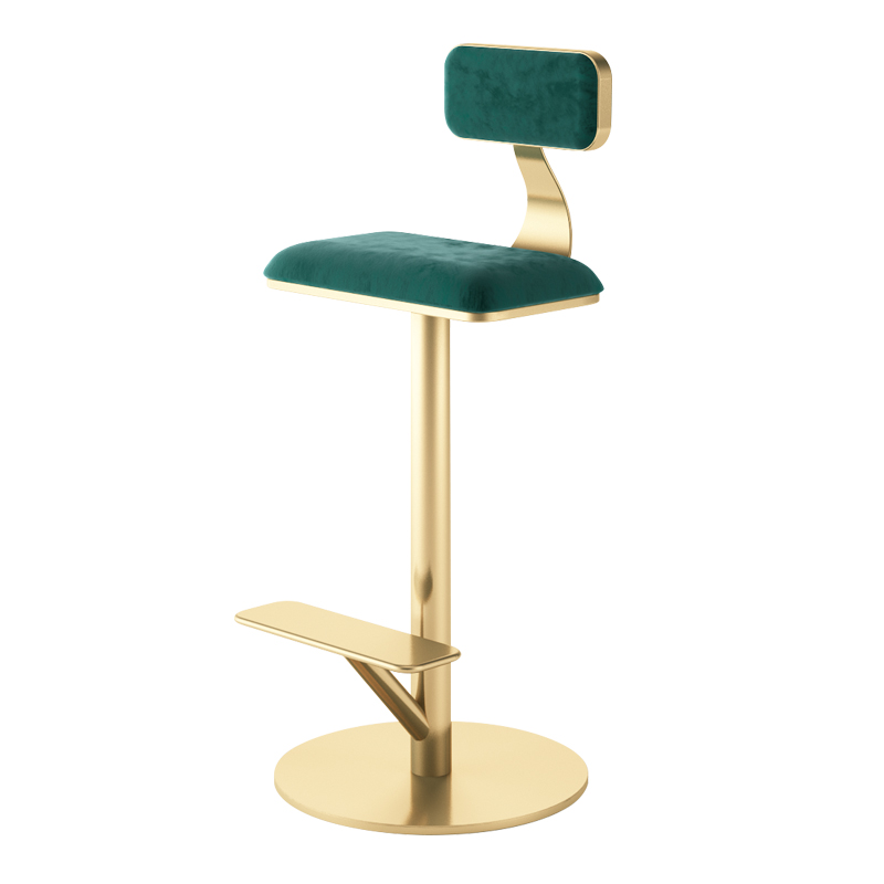 Light Luxury ins Photo High Chair Nordic Designer Home Bar Chair Back Clothing Mobile Phone Shop Bar Stool