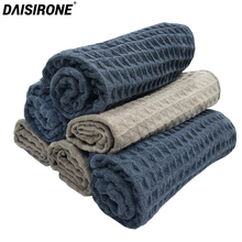 6PCS Car Microfiber Drying Towel Waffle Weave Design Car Cleaning Cloths Car Care Wax Polishing Detailing Towel