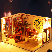 Toy Building-Model Wooden Hand-Assembled Diy of 223 Hut Flower-Room A-Pot Wine-Ancient