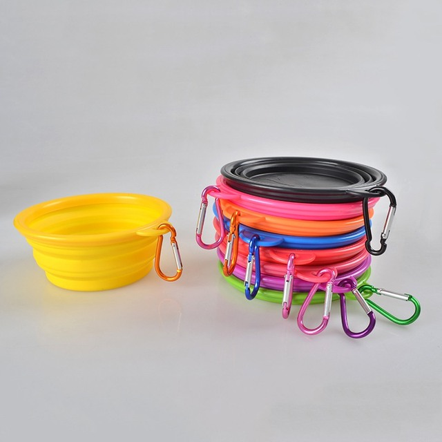Portable Silicone Pet Dog Drinking Bowl Food Water Feeder   5