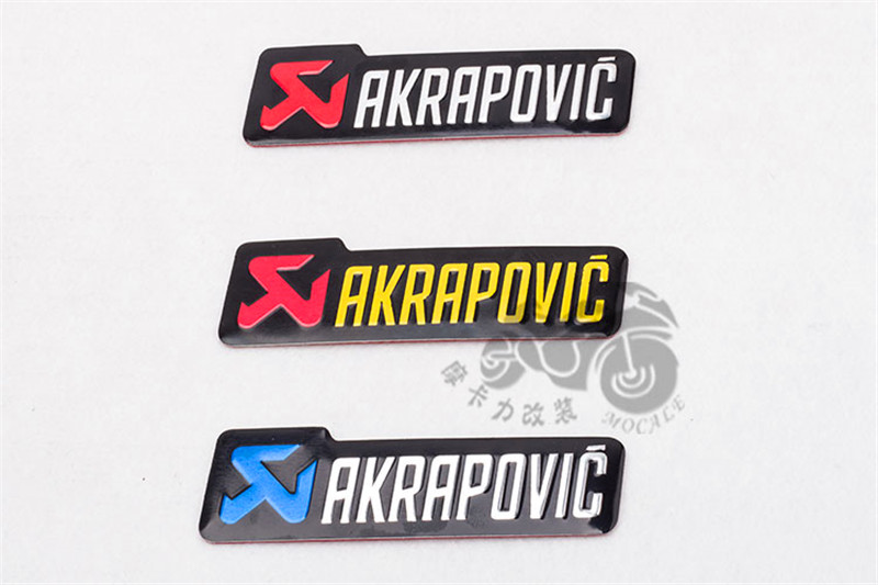 Universal 100X30mm Aluminium 3D Label Stickers Akrapovic Exhaust DB KILLER  Sticker Silencer Decals For Motorcycle