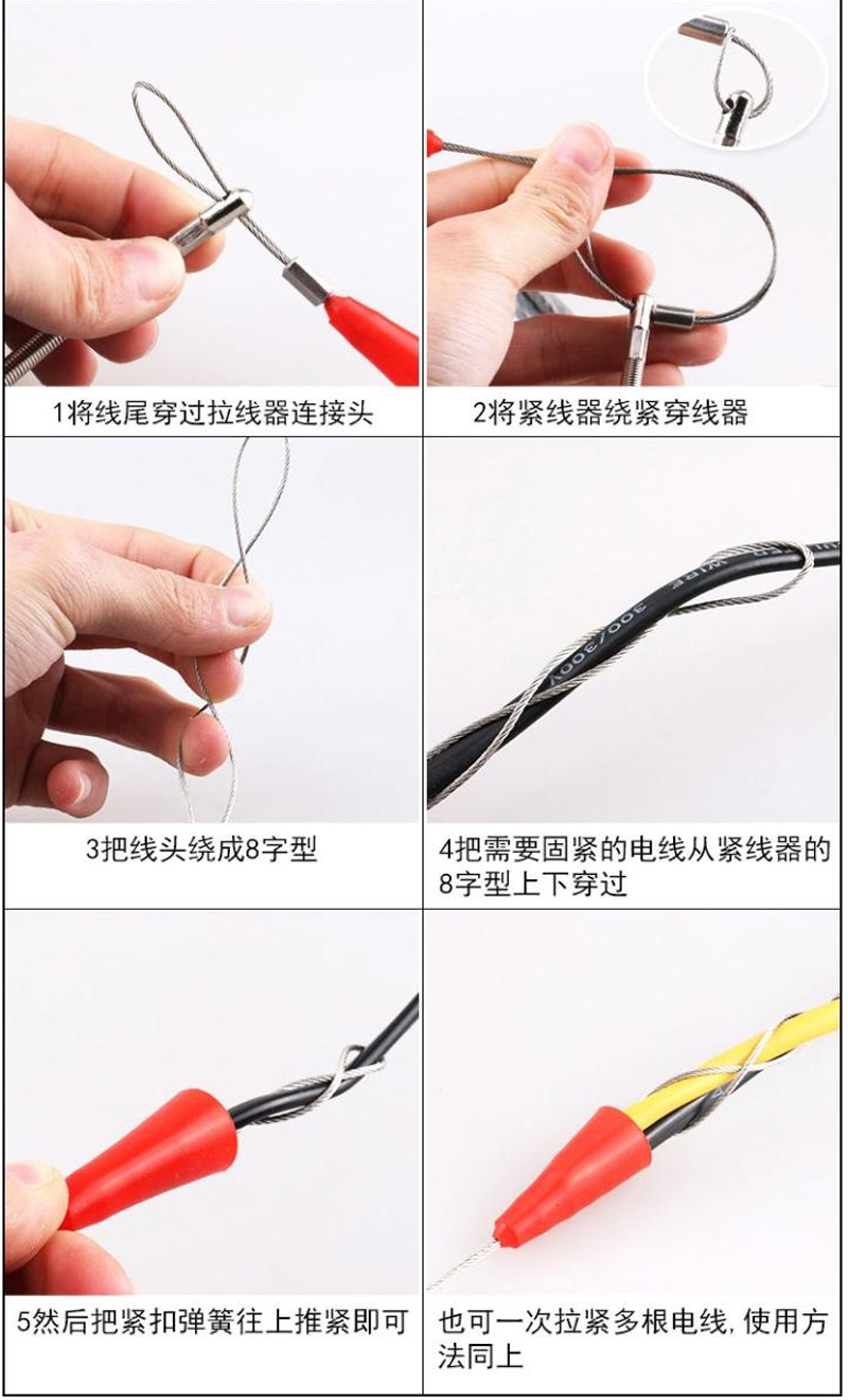 30M 4mm Glass Fiber Nylon Electrician Threader Conduit Ducting Rodder Fish Tape Reel Puller Pulling Wire Cable Fishing Tool