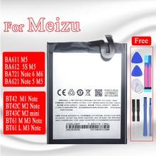 BA621 البطارية ل Meizu ملاحظة 5 meilan M5 ملاحظة M621N M621Q M621H M1 M2 M3 M6 ملاحظة L681H M681H M721H 5S M5S M2 البسيطة bt61 batteria