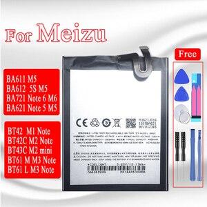 Image 1 - BA621 البطارية ل Meizu ملاحظة 5 meilan M5 ملاحظة M621N M621Q M621H M1 M2 M3 M6 ملاحظة L681H M681H M721H 5S M5S M2 البسيطة bt61 batteria
