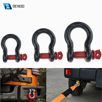 BENOO D Ring Shackle 2-Ton 3.25-Ton 4.75-Ton Tow Hook Universally Fit for Off-Road Jeep Truck Vehicle Recovery Best Offroad Tool