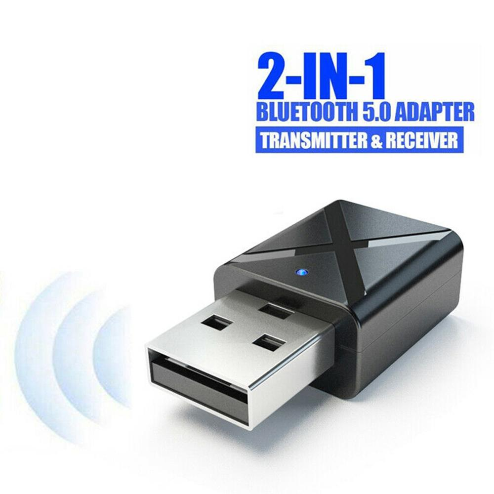 2 In 1 Wireless USB Bluetooth Adapter BT5.0 Dongle Universal Music Audio Receiver Transmitter For PC/Computer/Smart Phone/Tablet