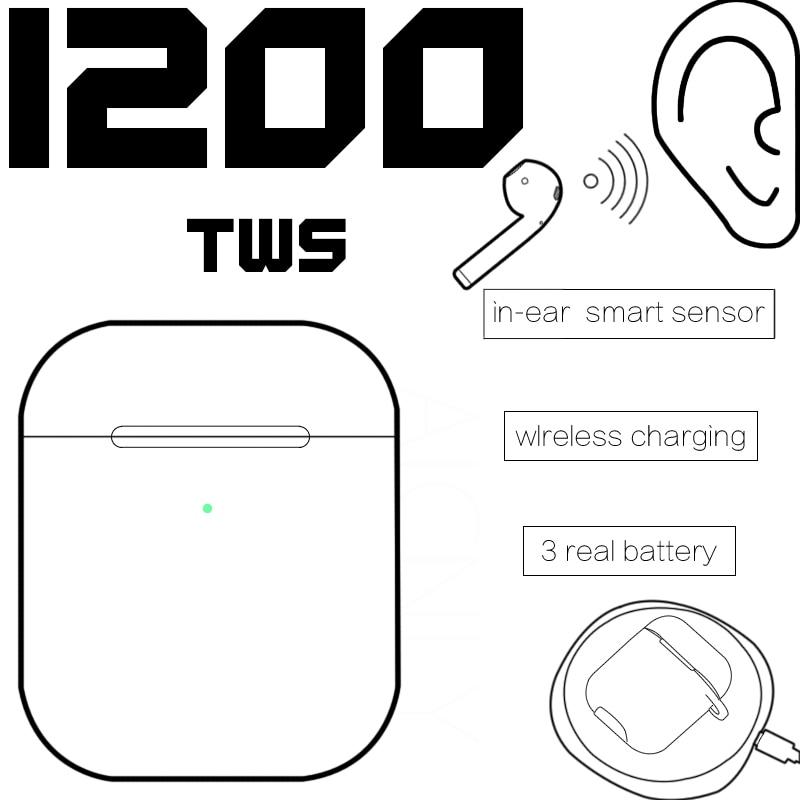 I200 Tws Bluetooth 5 Headsets Wireless Charging Earphone Pop Up Ear Detection PK I12 I9000 I800 I30 I60 I20 Tws