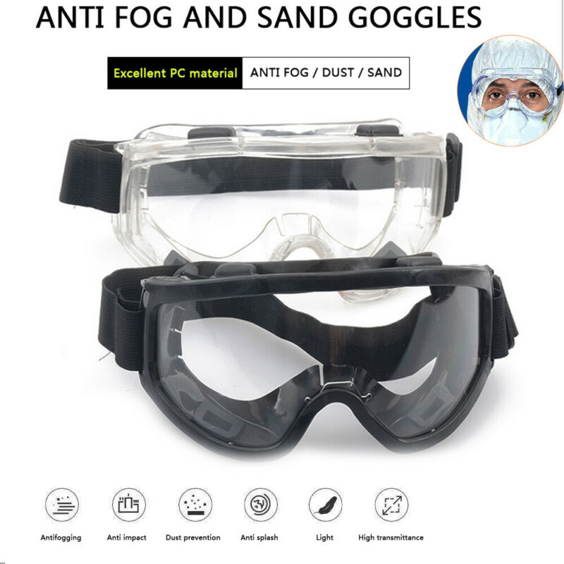 Anti Flu Safety Goggles Glasses Anti-Fog/Scratch/99% UV Work Eye Protection Safety Glasses Protective Bacterial Medical Goggles