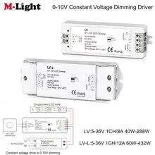 Dc 5-36V Constante Spanning Rijden Naar 0-10V Dimmen Led Dimmer 0-10V 8A/12A Voeding Driver Helderheid Controller Voor Led Strip