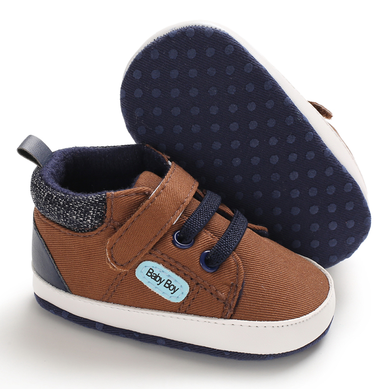 2019 Newborn Baby Canvas Letter First Walkers Cute Boys Girls Soft Sole Shoes Toddler Baby Girl Shoes