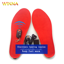 New Electric Heating Insoles with Three Modes Wireless Remote Control Shoe Pads Thermal Heated for Winter Camping Skiing