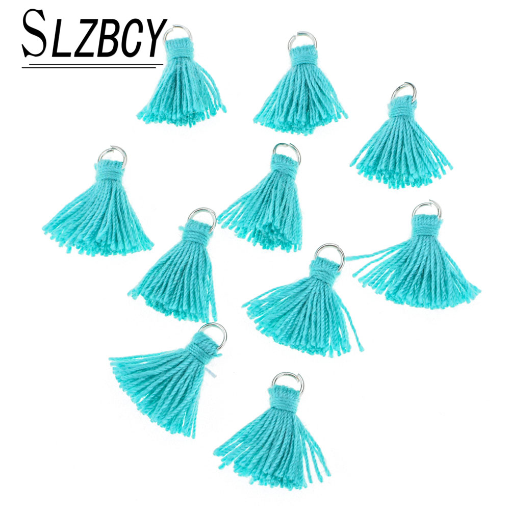 20pcs/Lot Handmade Colorful Mini Tassel Charms For Jewelry Making 2cm Cotton Tassel Necklace Earrings Women DIY Jewelry Findings