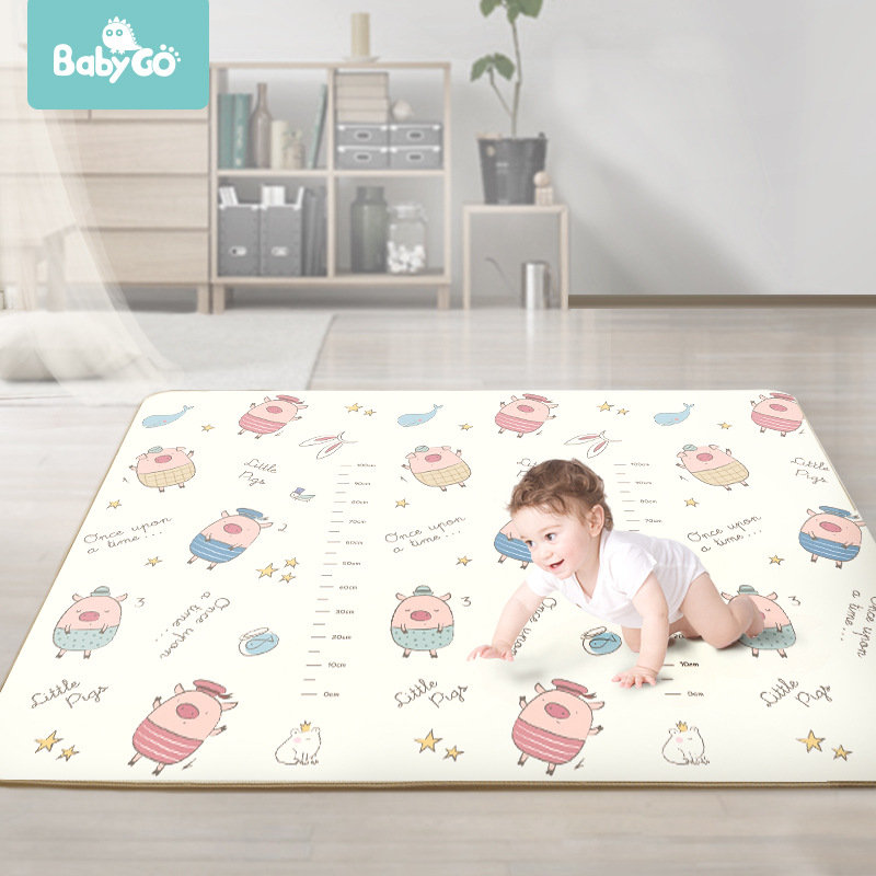 XPE Crawling Mat 1cm Thickness Baby Carpet Play Mat Cartoon Double-Sided Non-Slip For Children Room 200*150cm Kid Toddle Playmat