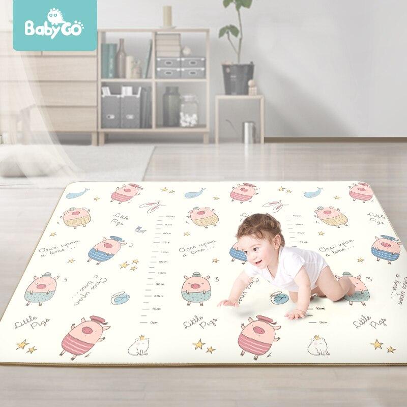 XPE tapis rampant 1cm épaisseur bébé tapis tapis de jeu bande dessinée Double face antidérapant pour chambre d'enfants 200*150cm Kid toack tapis de jeu