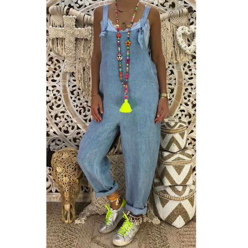 Популярные женские Мешковатые цельные комбинезоны спецодежда джинсы комбинезон с длинными штанинами 2019