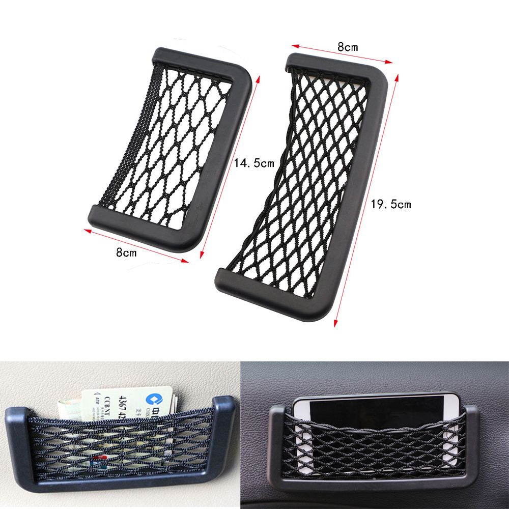Universal Car Carrying Storage Bag Mesh Net Car Styling Accessories Phone Holder Pocket Car Organizer for Ford Focus 2 3 4