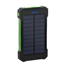 1pcs 8000mAh Solar Power Bank Cellphone Charging US Stock