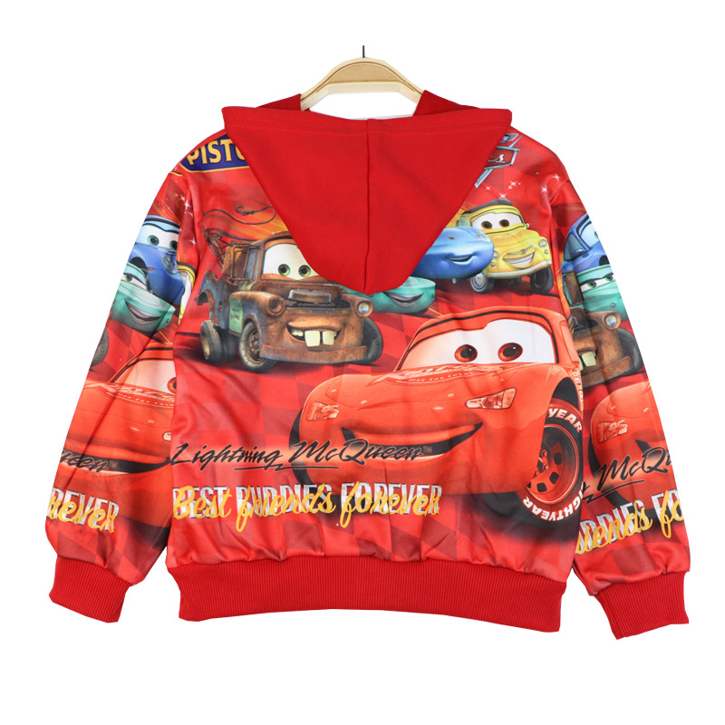 Boys Girls Cars Coat Hooded Children's Jacket For Spring Autumn Kids Clothes Clothing Outwear