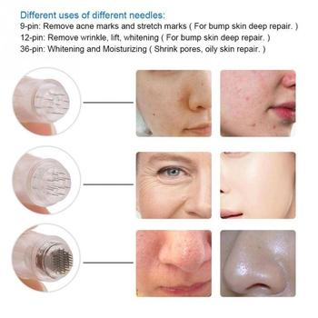 Anti Aging Wrinkles Micro 9 12 36 Pin Needle Derma Pen Replacement Skin Care eyebrow trimmer eyebrow epilator eyebrow trimmer