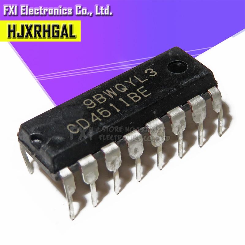 10PCS CD4511BE DIP16 CD4511 DIP New Original