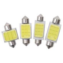 10X Girlande C10W C5W Led lampe COB 12SMD Auto Innen Licht Lizenz Platte Dome Lesen Lampe 31mm 36mm 39mm 41mm 6500K Weiß