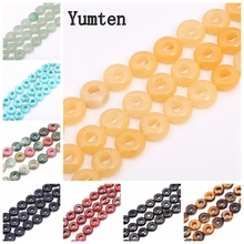 Yumten Round Hole Topaz Bead 4mm*10mm Natural Gemstone Beads Wholesale Jewelry Making Necklace Accessories Hand Beaded Obsidian
