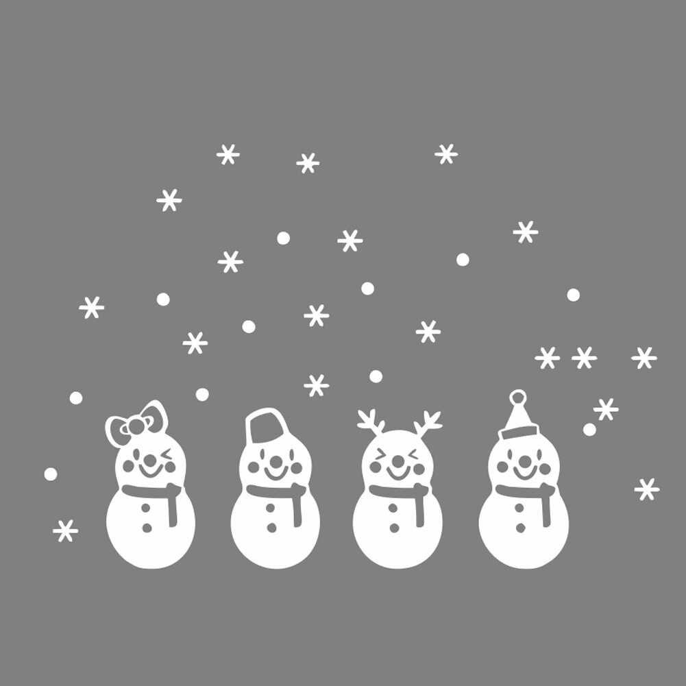 Рождественский снеговик рождественские наклейки на стену Замороженные снежные хлопья настенные изображения стена ПВХ наклейки Рождественский Дизайн Наклейка