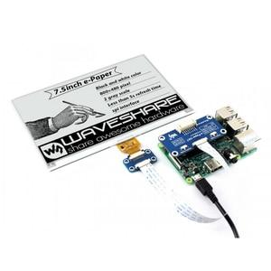 Image 2 - 7.5 polegadas e ink display hat 800x480 e paper módulo preto branco duas cores spi sem luz de fundo para raspberry pi 2b/3b/3b +/zero/zero w