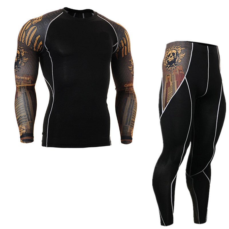 Motorcycle Thermal Underwear Set Outdoor Sport Motorcycle Skiing Winter Warm Base Layers Tight Long Johns Tops& Pants  Jacket