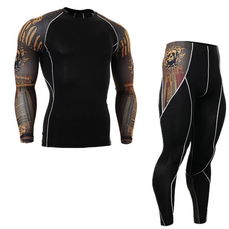 Motorcycle Thermal Underwear Set Outdoor Sport Motorcycle Skiing Winter Warm Base Layers Tight Long Johns Tops& Pants  Jacket