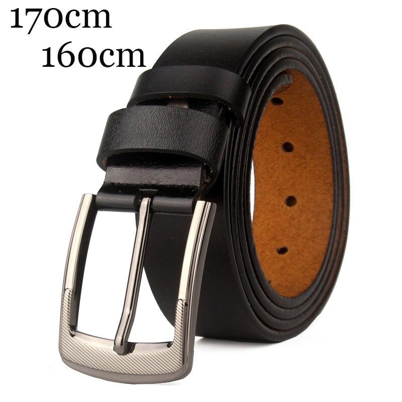 Large Size Men's Genuine Leather 160 170cm Long Pin Buckle Belts For Man Casual Designer Belts Men High Quality Cowskin Belt