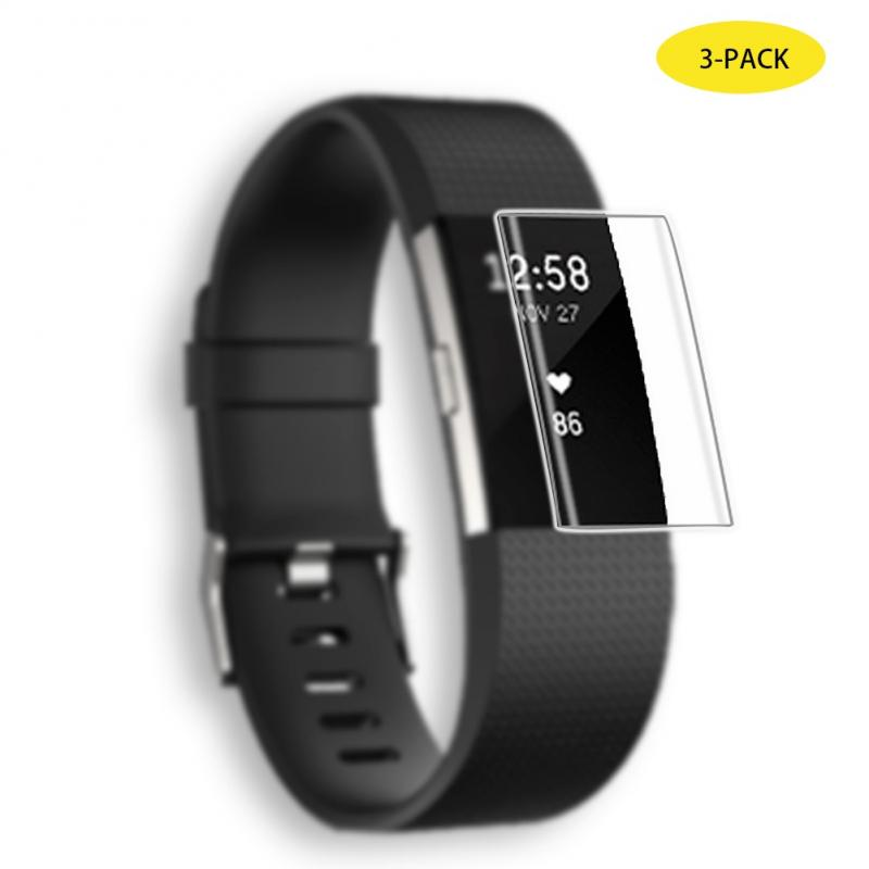 Smart Bracelet Screen Protector Cover Case Film Tempered Glass Anti Slide Full Cover Screen Protective Case For Fitbit Charge 3