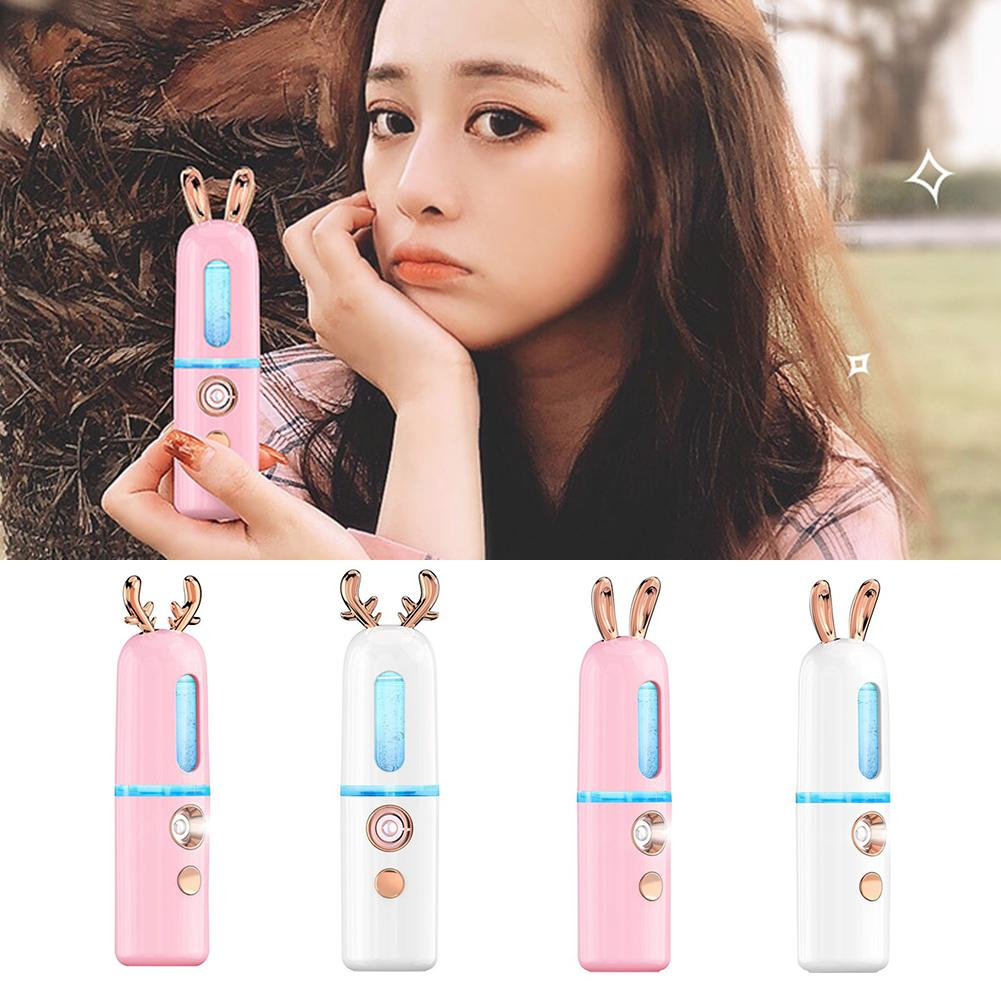 Fawn Bunny Handheld Ion Nanomist Hydrating Beauty Facial Humidifier Steamer
