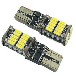 10 pièces Promotion 10 w5w canbus voiture lumière intérieure 194 501 led 26 4014 SMD Instrument lumières ampoule lampe dôme lumière 12V 6000K