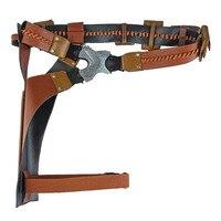 Cossky Doctor Bravestone Cosplay Props Men Brown PU Belt Decoration
