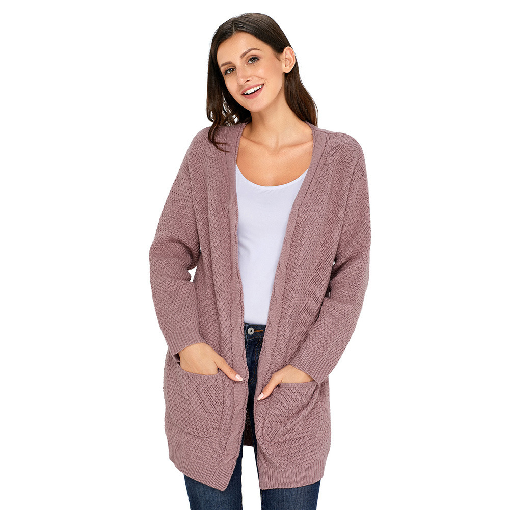 Clothing OWLPRINCESS 2017 Autumn Cardigan Casual Mid-length Sweater Women's Long Sleeve Knitted Sweater Coat