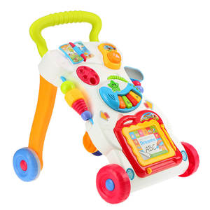 Baby-Walker Trolley Sit-To-Stand Early-Learning-Toy Toddler with Adjustable Screw