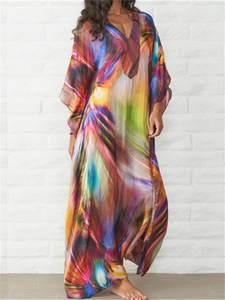 Beach-Tunic Robe Cover-Up Bikini Kaftan Plage Pareos-De-Playa Mujer Q831 Quick-Drying