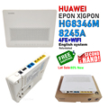 Бесплатная доставка, партия 5/7/10 шт., Подержанный маршрутизатор HG8346M 8245C 8245A 4FE + 2 кастрюли + WiFi EPON GPON XPON wifi ONU FTTH Eng OS Mordem