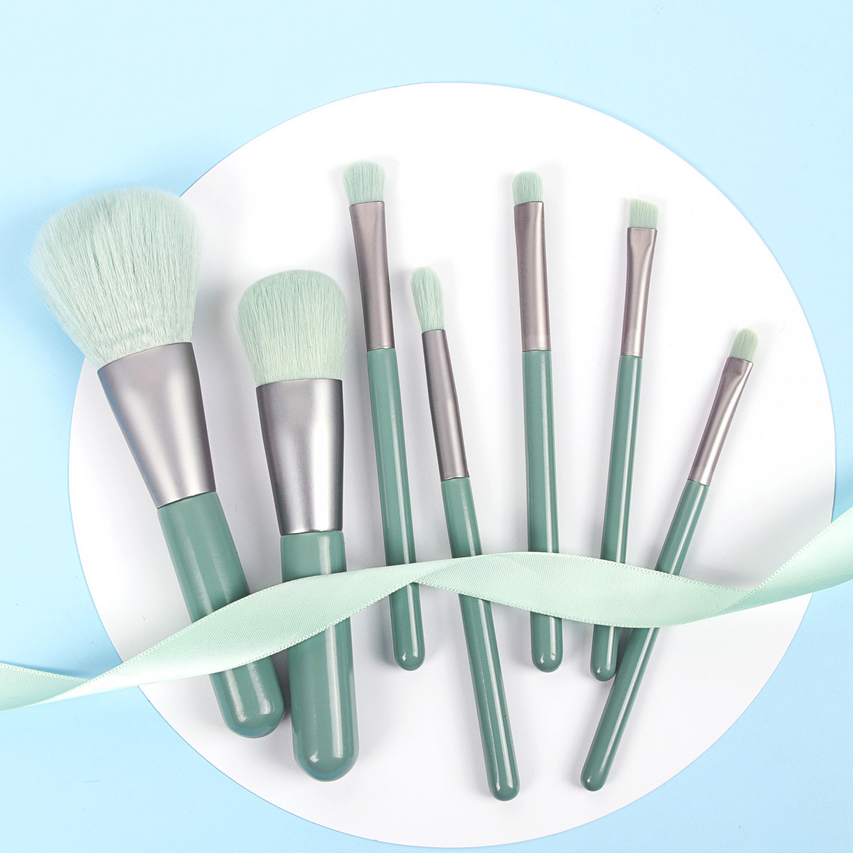 7pcs Makeup Brushes Set with Bag Powder EyeShadow Blending Eyeliner Eyelash Lip Portable Brushes For Makeup pinceis de maquiagem