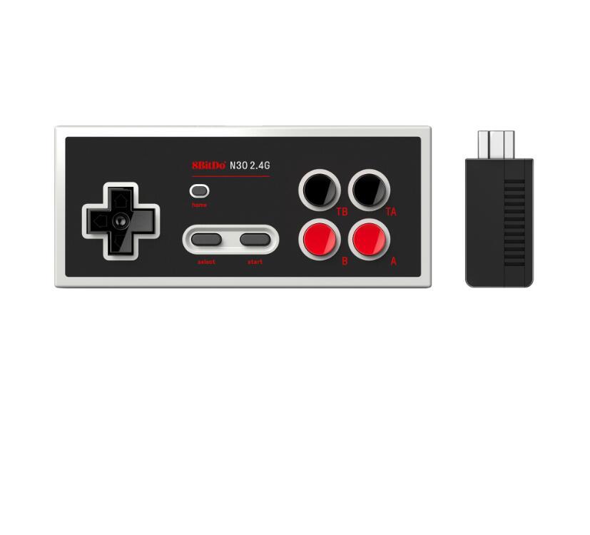 Gamepad sem Fio para Nes Controlador de Jogo Bitdo Edição Clássica Joypad Jogo Console Jogos Controle 8 N30 2.4g